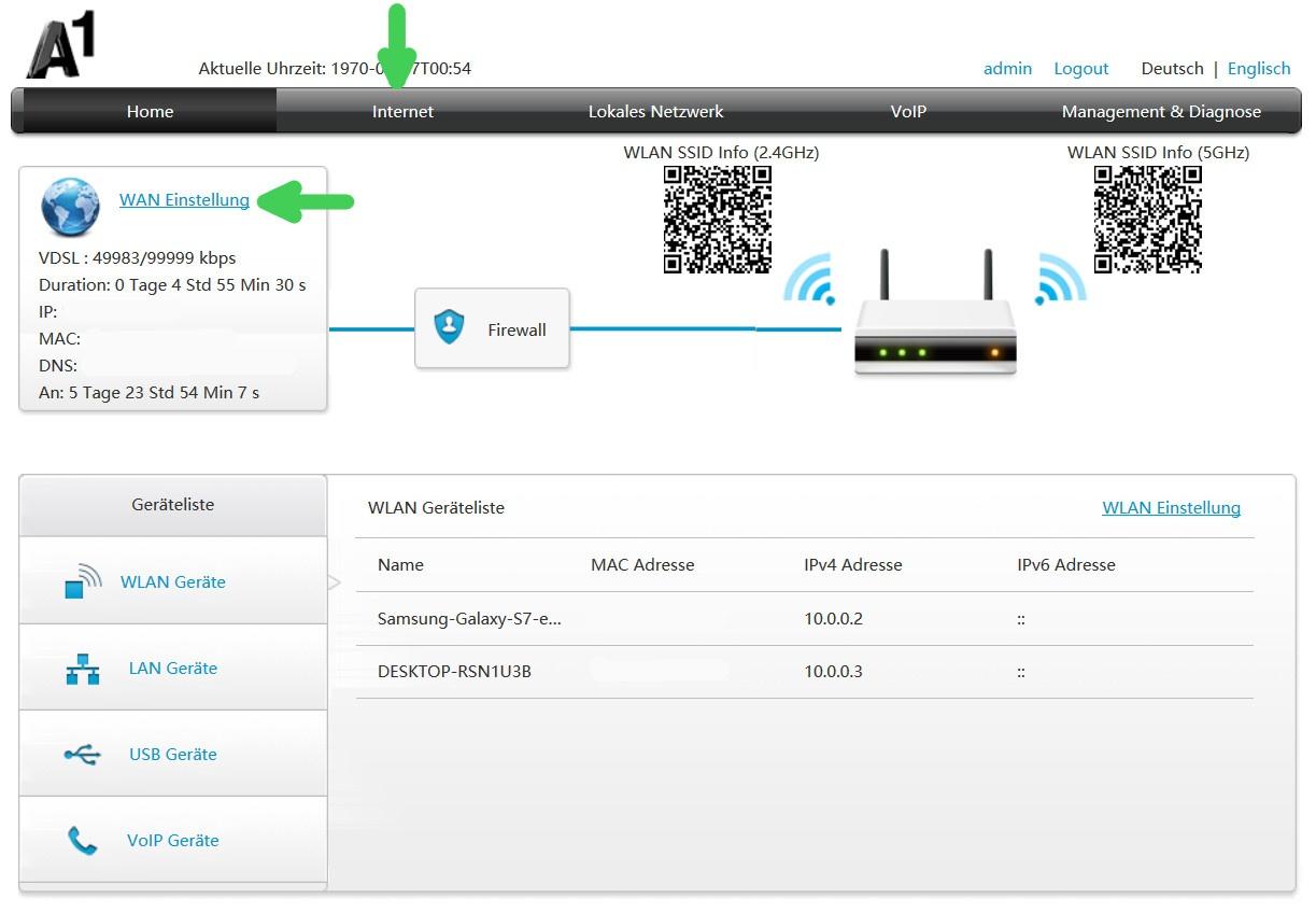 ZTE H389A + H268N Router: Zugangsdaten einrichten - Support