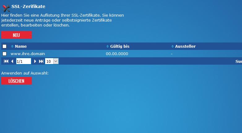 CSR erstellen / (Certificate Signing Request ...
