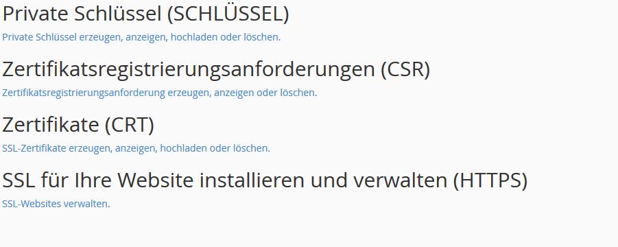cPanel SSL Zertifikat nach Erhalt einfügen und Erreichbarkeit ...